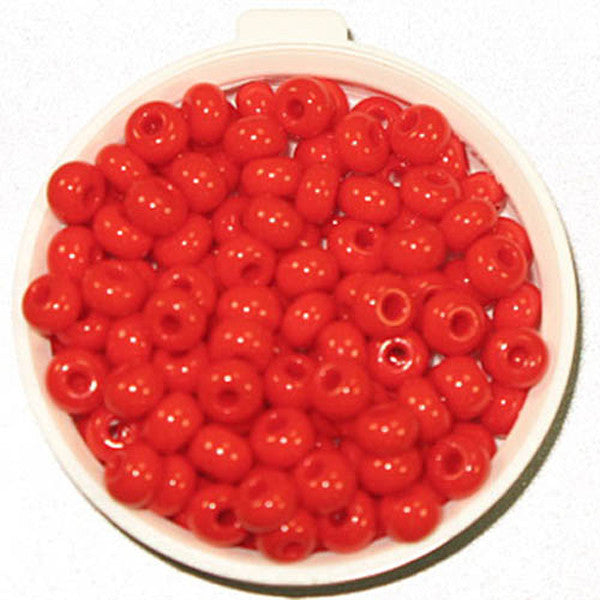 6/0 Light Red Glass Seed Beads 40 Grams