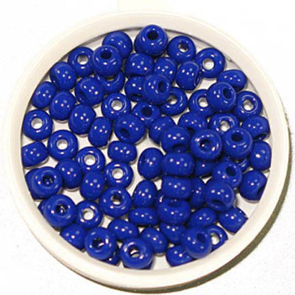 6/0 Royal Blue Glass Seed Beads 40 Grams