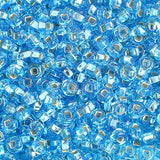 Image of 65401684 - 6/0 S/L Aqua Glass Seed Beads 40 Grams