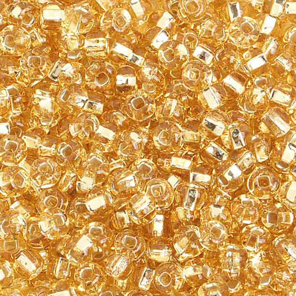 6/0 S/L Gold Glass Seed Beads 40 Grams