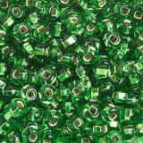 Image of 65401685 - 6/0 S/L Lime Glass Seed Beads 40 Grams