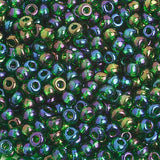 Image of 65401662 - 6/0 Tr. Dark Green Ab  Glass Seed Beads  40 Grams