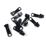 YKK #5 Vislon Long Tab Slider Zipper Pull Black -10 Pack