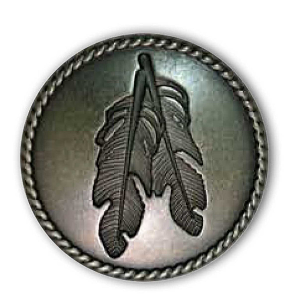 "Rope Edge Feather Concho 1.25"" (32mm)"
