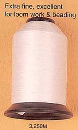 Image of 74423012 - White Nylon Beading Thread 3250 meters