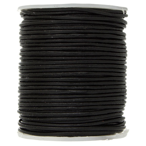 0.5mm Round Leather Cord - 25 Meters - 3 Colors