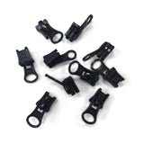 YKK #5 Vislon Bottom Slider Zipper Pull Hardware Black - 10 Pack