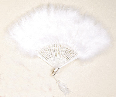 Image of 78323206-01 - Feather Marabou Fan White