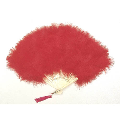 Image of 78323206-02 - Feather Marabou Fan Red