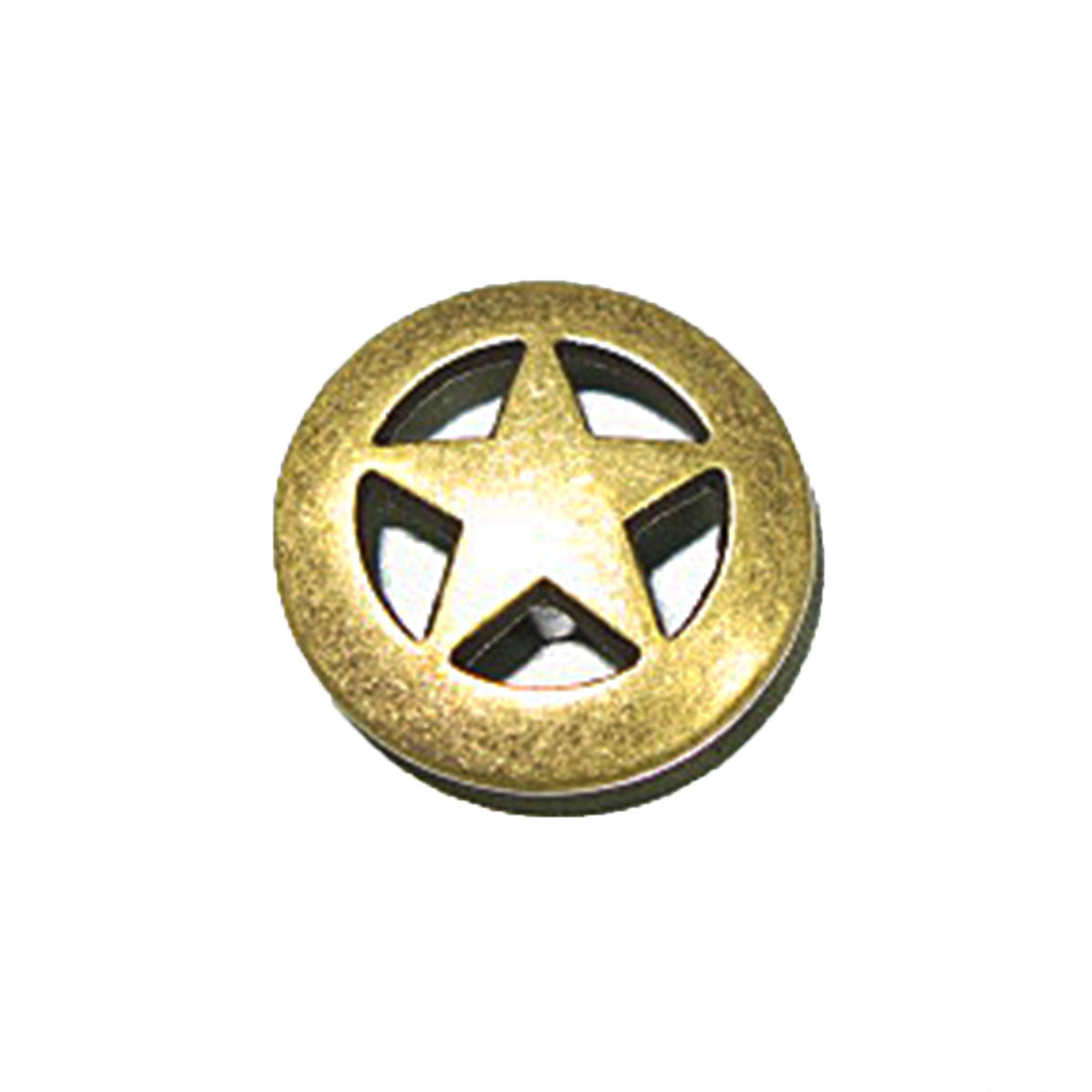 Ranger Star Concho Old Ranger Brass Finish - 3 Sizes
