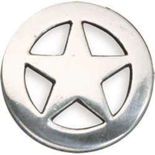 Ranger Star Concho Silver Plate - 3 Sizes