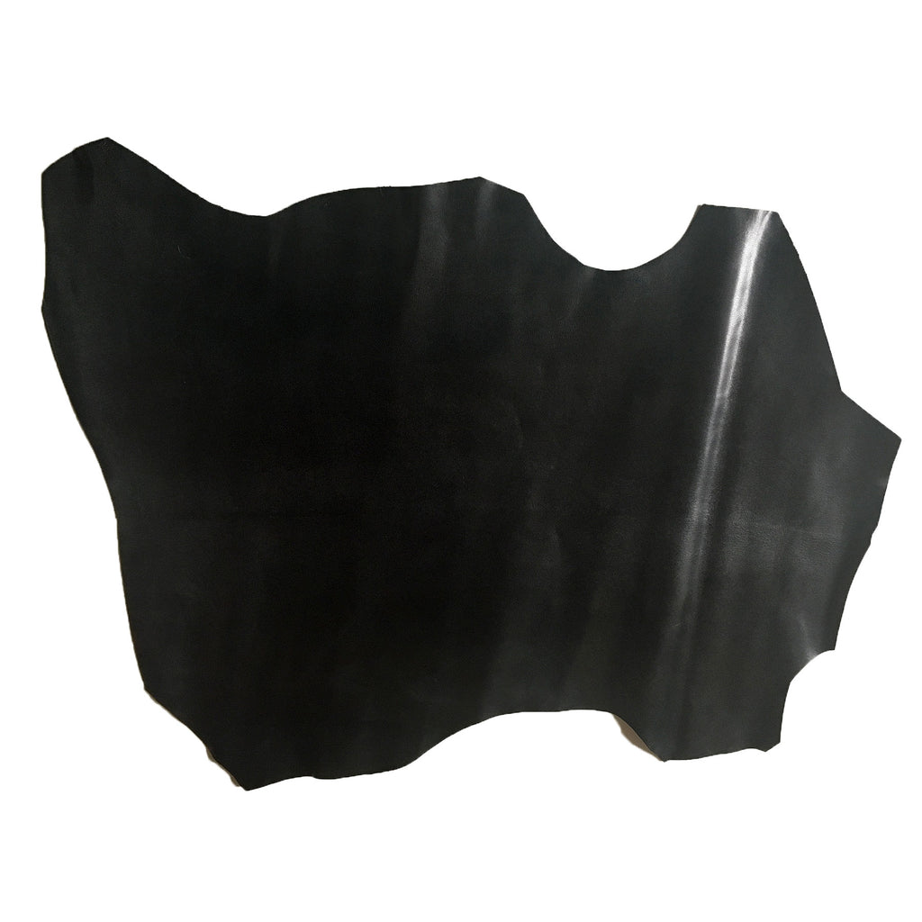 Derby Kid Goat Hide Black Genuine Goat Leather Average Size 4 sqft