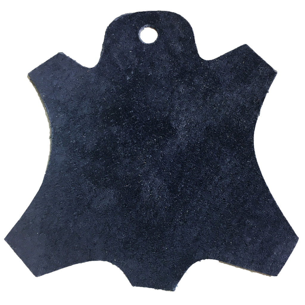 Premium Garment Grade Pig Suede Leather Hide 0.5mm Avg 7-9 sqft - Navy