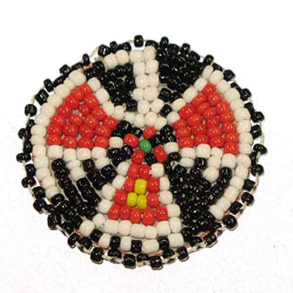 "Beaded T-Bird Rosettes 1-1/2"" Black"