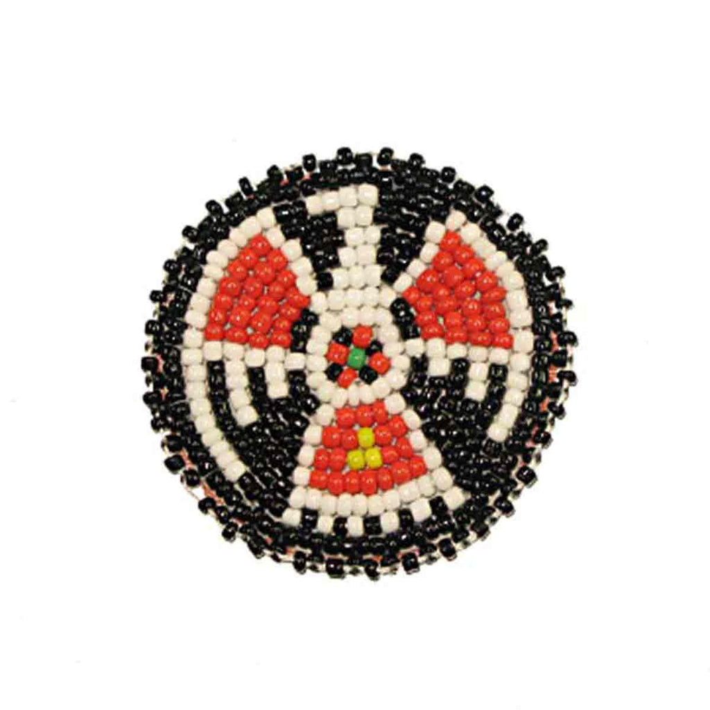 "Beaded T-Bird Rosettes 2"" Black"