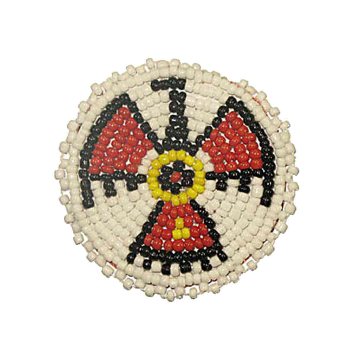 "Beaded T-Bird Rosettes 2"" White"