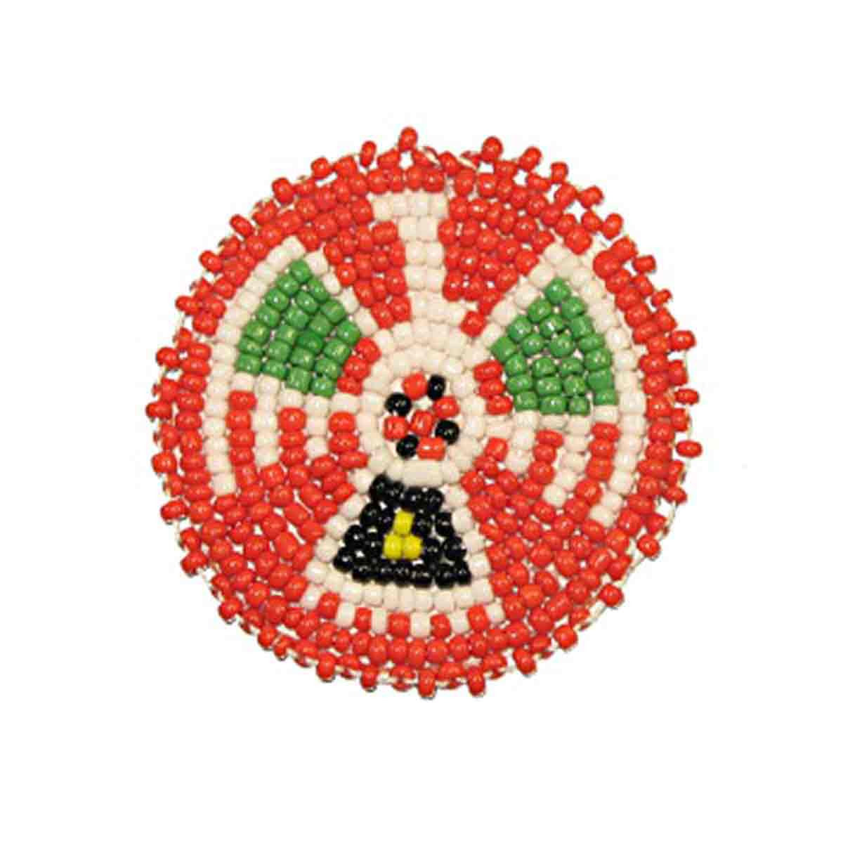 "Beaded T-Bird Rosettes 2"" Red"