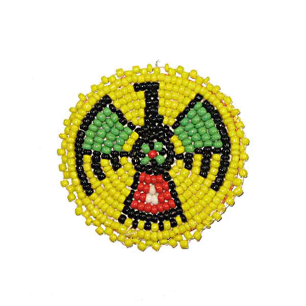 "Beaded T-Bird Rosettes 2"" Yellow"