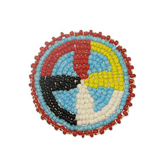 Beaded Quilled Wheel Rosettes 2""