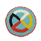Beaded Quilled Wheel Rosettes 3""
