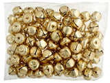 Jingle Bells 25mm Round Gold 10 Pack