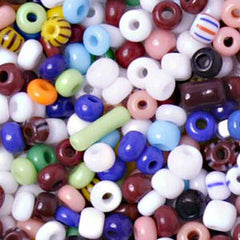 Image of 65229289 - 8/0 Assorted Czech Seed Beads 40  grams.