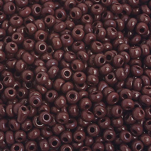 8/0 Dark Brown Seedbead  40 grams