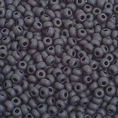 Image of 65201025 - 8/0 Matt Black  Czech Seedbeads 40 grams