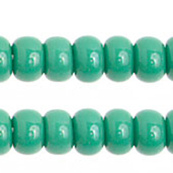 8/0 Opaque. Medium Dark Green Seadbead 40 grams
