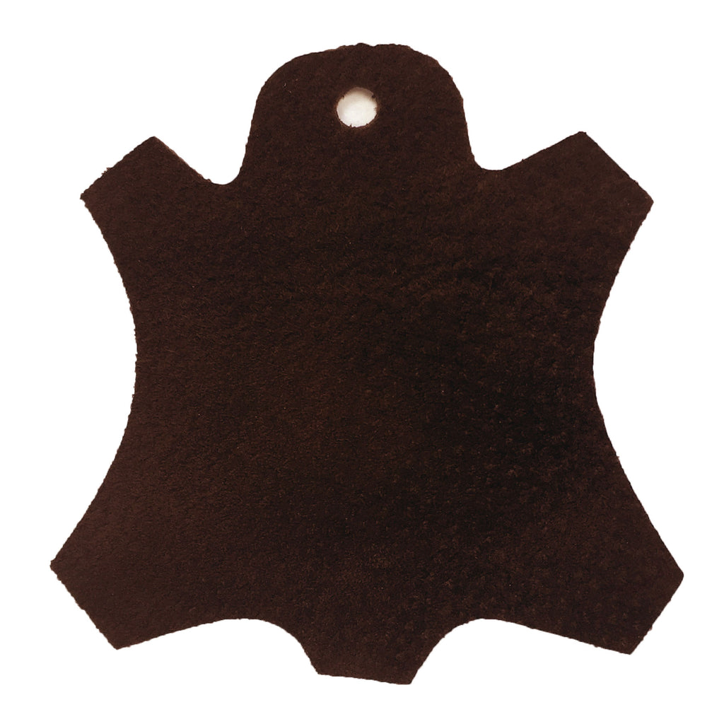 Premium Garment Grade Pig Suede Leather Hide 0.5mm Avg 7-9 sqft - Dark Brown
