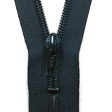 "#5C 6""-16"" YKK Closed Nylon Zipper - Black"