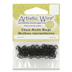 "18G Jump Ring ID 11/64"" Black 140 Pieces"