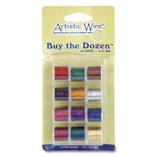 Colored Artistic Wire Buy The Dozen - 4 Gauges