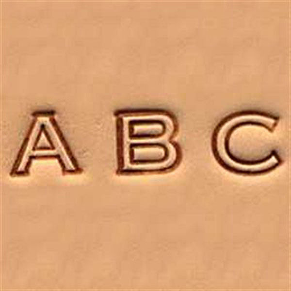 "1/4"" Alphabet Stamp Set Open Face 4909-00"