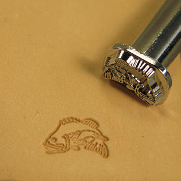 Image of F114 - Bass Fish 2-D Leather Stamp F114