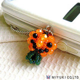 Image of 79-MFK46 - Beaded Pumpkin Charm