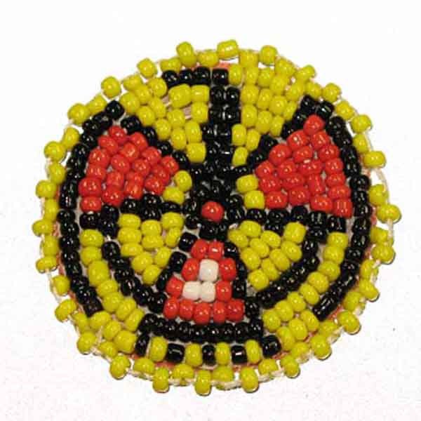 "Beaded T-Bird Rosettes 1-1/2"" Yellow"