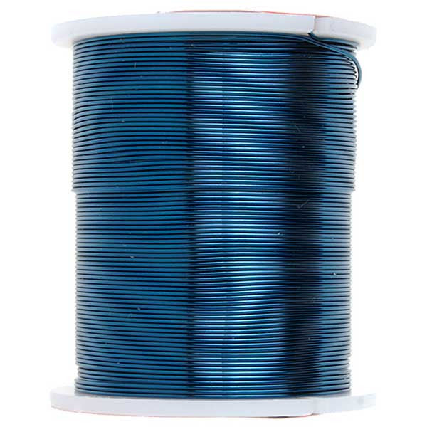 Image of 74701008-02 - Blue Copper Beading Wire 24 Yards - 26 Gauge