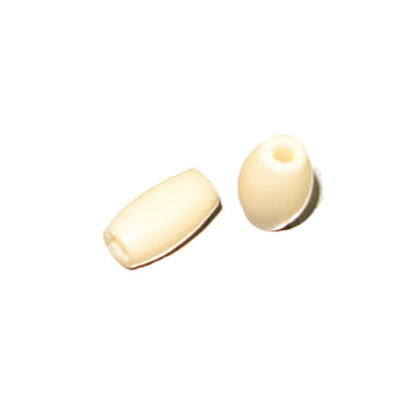 "Image of 2203-01 - 0.5"" Bone Hairpipe Bead Ivory 10 Pack"
