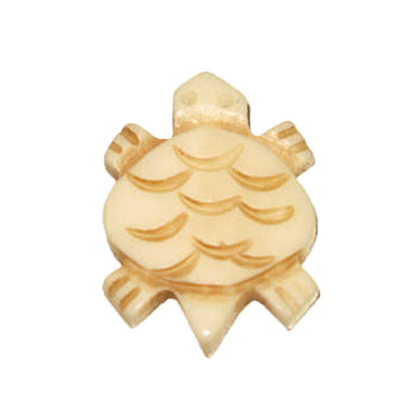 Image of 225422-01 - Bone Turtle Pendant 22mm x 20mm