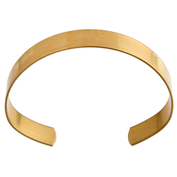 "Image of 25435000 - Solid Brass Flat Cuff Bracelet Base 11mm 7/16"" Wide"