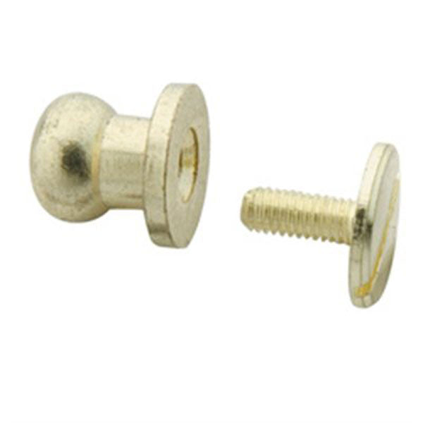 Image of 11311-01 - Button Stud Large Screwback Gilt 11311-01