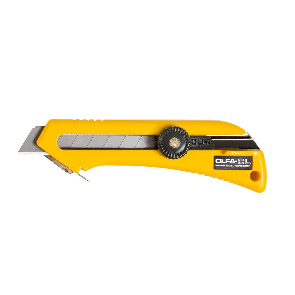 OLFA (CL) 90 Degree Cutting Base Heavy-Duty Ratchet-Lock Utility Knife #9021