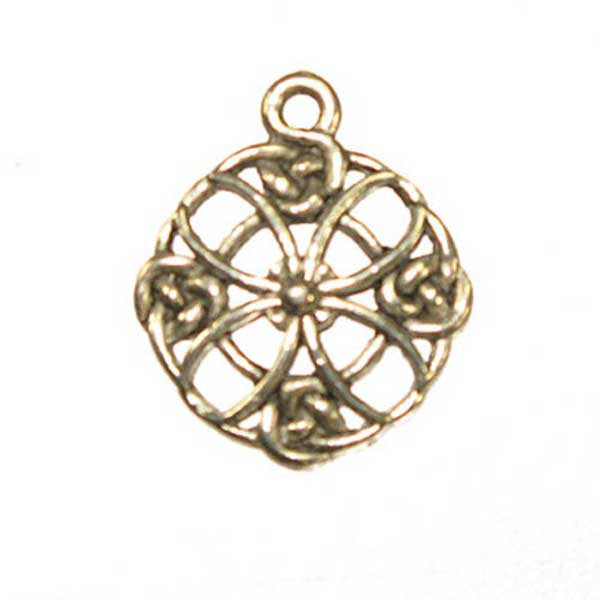 Celtic Cross Circle - Antique Silver - Lead Free