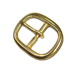 "Image of 17190-00 - Center Bar Buckle 3/4"" (1.8 cm) Solid Brass"