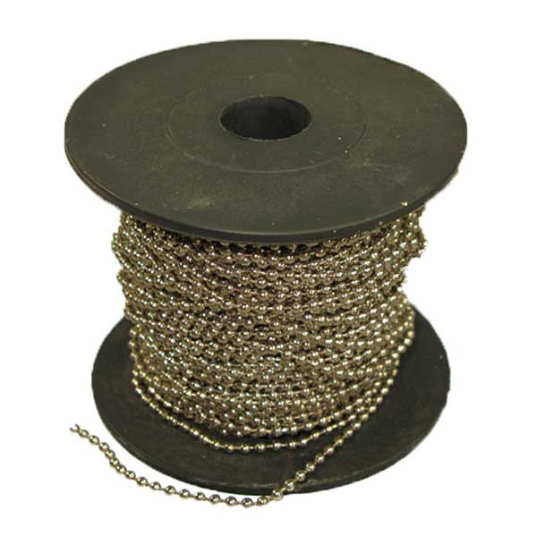 Image of 74235423-2 - Chain Ball Nickel 2.4mm 100 foot Spool