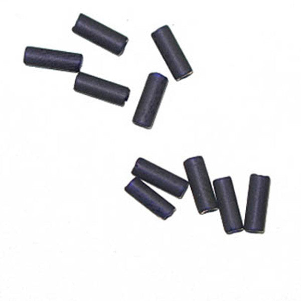 Cobalt Blue Matt Glass Wampum Beads 8x3mm 40 grams