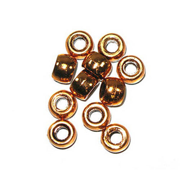 Image of 71420582-02 - Crowbeads Metalized Copper Op. 9mm 1000 Pack