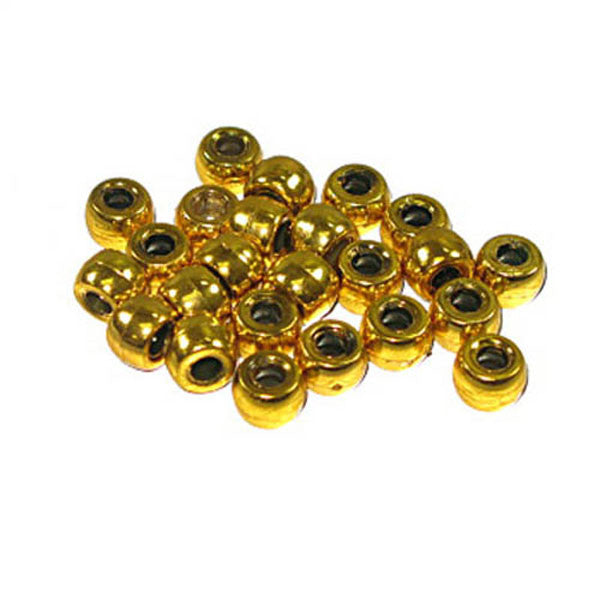 Crowbeads Metalized Gold Op. 9mm 1000 Pack