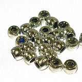 Image of 71420582-01 - Crowbeads Metalized Silver Op .9mm  1000Pk